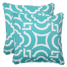 Outdoor 2-Piece Square Throw Pillow Set - Carmody
