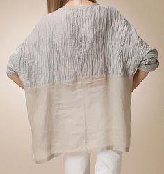 The big code loose T-shirts sleeve head flax seven от yiyicheng