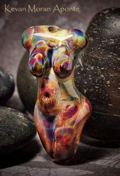 Aurora  Handmade Lampwork Glass Goddess Bead by dancingstarbeads