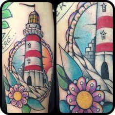 Tattoo tatuaggio faro lighthouse