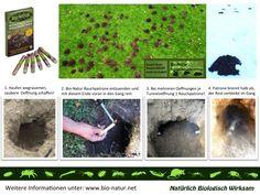 Produktanwendung Bio-Natur Rauchpatrone gegen Wühlmäuse und Maulwürfe sowie Kaninchen Diana, Rabbits, Nature, Lawn And Garden