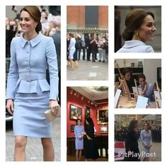 The Duchess of Cambridge visited MauritsHuis , an art museum. She saw some historic arts at the art exhibition and met children who are on a workshop.  #HerRoyalHighness