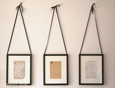 Hand written recipes from mom, grandma, or great-grandma. Frame and hang in the kitchen!