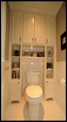 30 Top Small Bathroom Storage Ideas to Save Space - Page 28 of 32 Bathroom Storage Units, Wall Storage Systems, Small Bathroom Sinks, Storage Shelves, Storage Spaces, Storage Ideas, Organization Ideas, Bathroom Ideas, Bathroom Makeovers