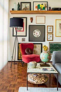quadros-parede-suporte-prateleira-apoiados (Foto: Edu Castello/Editora Globo)