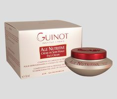 Guinot Age Nutritive Creme de Soin Visage Face Cream 50ml  Guinot Age Nutritive Creme de Soin Visage Face Cream helps to compensate for nutritional deficiencies by deprogramming the natural course of cell ageing. The skin's cellular activity is regenerated and suppleness is restored with essential fatty acids revealing a much more radiant and youthful complexion.  http://www.clickfragrance.co.uk/products/5165-guinot-age-nutritive-creme-de-soin-visage-face-cream-50ml.html