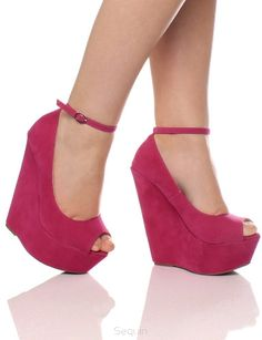 133 peep toe wedges Giuseppe2 hot pink - Wedges, ballerinas, ladies sandals, pumps, boots shop