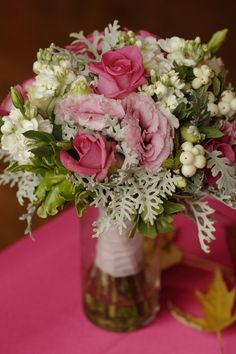 Pink, White & Green Bouquet by Aria Style / www.ariastyle.com / https://www.facebook.com/AriaStyle