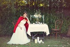 Slip away and into a dreamy storybook styled shoot scene, inspired by the tale of Red Riding Hood and photographed by the lovely Kathrin Gallova. Red Riding Hood, Little Red, Wedding Dresses, Style, Fashion, Bride Dresses, Swag, Moda, Bridal Gowns