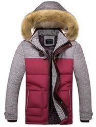 #Valentines #AdoreWe #EricDress - #EricDress Ericdress Color Block Faux Fur Thicken Warm Slim Mens Winter Coat - AdoreWe.com