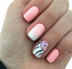 Photo, Photo Requires a little nail base creativity design for your short toenails N . Dream Catcher Nails, Milky Nails, Tribal Nails, Gem Nails, Fall Acrylic Nails, Chic Nails, Pretty Nail Art, Creative Nails, Perfect Nails