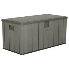 Buy Lifetime Outdoor Storage Box - at Argos. Thousands of products for same day delivery or fast store collection. Pool Storage Box, Outdoor Storage Boxes, Patio Storage, Outside Storage, Shed Storage, Storage Organization, Wood Grain Texture, Deck Box, Patio Cushions