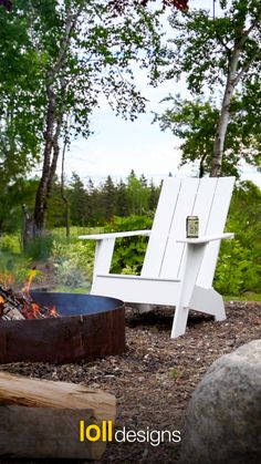Appreciate the outdoors with maintenance free furniture from Loll Designs. - Made in the USA from recycled post-consumer plastic, Loll's outdoor furniture adds a unique and m - Modern Backyard, Backyard Landscaping, Garden Furniture, Outdoor Furniture, Outdoor Decor, Outdoor Fire, Outdoor Living, Outdoor Gardens, Garden Design