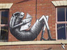STREET ART - Phlegm creates a brand new mural on the streets of Sheffield, UK Street Art News, Murals Street Art, Street Art Graffiti, Street Artists, Sheffield Art, Sheffield England, Creating A Brand, Magazine Art, Beautiful Artwork
