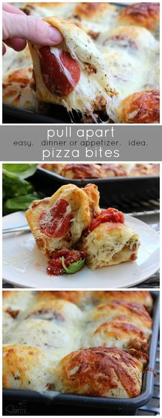 Pull Apart Pizza Bites ~ a quick, easy and delicious meal to serve as dinner or as an appetizer.