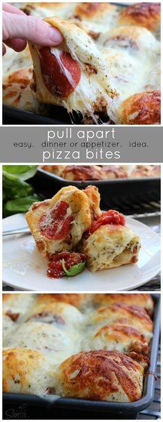 Pull Apart Pizza Bites