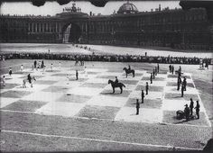 Human chess in 1924, St. Petersburg, Russia.