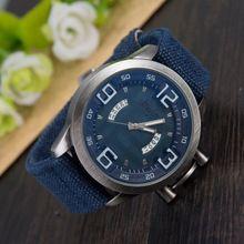 LZ Luxury Brand Bwin Vintage Denim Band Wristwatch 5 Colors Complete Calendar Sport Quartz Watch Men Watches 2016 W73(China (Mainland))