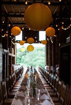 Tyler wants his China Balls overhead. Wedding Spot, Farm Wedding, Rustic Wedding, Summer Wedding, Wedding Dreams, Wedding Stuff, Table Setting Design, Rustic Country Wedding Decorations, Nashville Wedding Venues