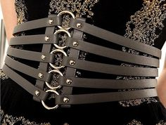Fashion and Casual Stripes Embellished Elastic and Widen Design Women's Belt Leather Accessories, Leather Jewelry, Leather Craft, Fashion Accessories, Leather Lingerie, Corset Belt, Leather Harness, Leather Projects, Belts For Women