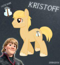 Kristoff Pony From Frozen (No Hat No Cloth) by Doragoon.deviantart.com on @deviantART