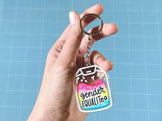 Gender EqualiTEA Acrylic Keychain | LGBTQ Queer LGBTea Pride | All Proceeds Donated