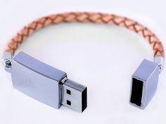 Fancy - #Scandinavian Design Leather USB Bracelet – Aussergewöhnliches Design: Das #USB-Armband    bestswiss.ch