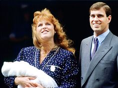 The Royals' First Baby Photos....PRINCESS BEATRICE....Following in the footsteps of the Prince and Princess of Wales, Sarah Ferguson and Prince Andrew let the world in on their beautiful bundle of joy on Aug. 12, 1988, outside of Portland Hospital, four days after welcoming Beatrice.