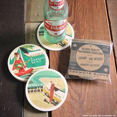 E Komo Mai/Party Wave Coaster Set