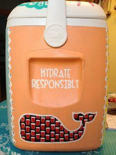- loved making frat coolers! Fraternity Formal, Fraternity Coolers, Frat Coolers, Diy Cooler, Coolest Cooler, Beach Cooler, Sorority Life, Sorority Canvas, Sorority Paddles