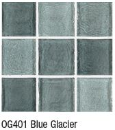 Blue Glacier from Crossville's Origins Glass mosaic collection
