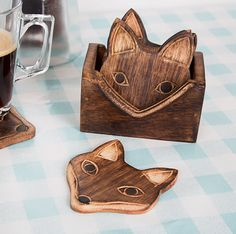 These charming wooden coasters. | 21 Adorable Fox Products You Need In Your Life