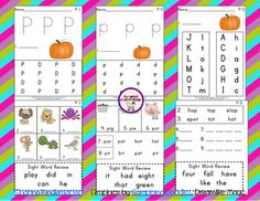Freebie Phonics for the letter Pp- and a LOT for letters... all for free!