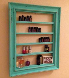 Frame Shelf For Essential Oils Fingernail by JeraldBuildsStuff