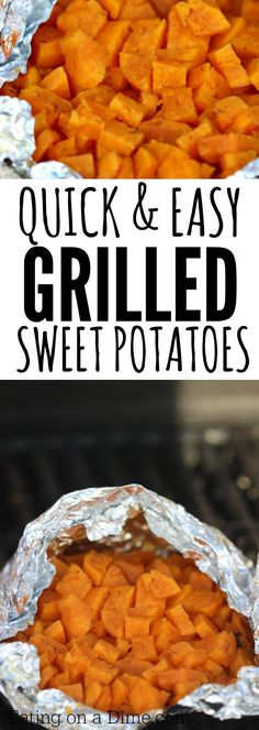 Quick and Easy grilled sweet potatoes recipe - Try this easy sweet potatoes on the grill recipe. Grilling recipe ready in under 20 minutes.