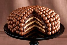 malteser cake- (Malted Milk Ball Cake- my interpertation) written with European directions but they have given American equivalent directions for the most part.  Sound delicious!!!