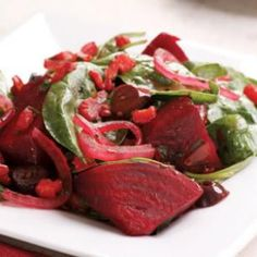 Warm beet and spinach salad! #beet #spinach #recipe #healthyliving #healthyfood #veggie #vegan