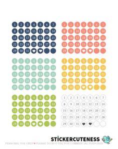 Posh Date Numbers – StickerCuteness