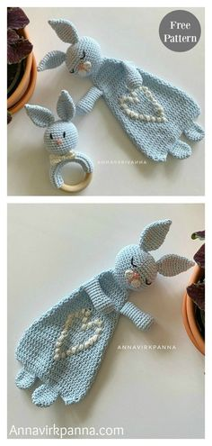 This Rabbit Ragdoll Toy Free Crochet Pattern is super adorable. It would make a great crochet Easter bunny. Crochet Rabbit Free Pattern, Crochet Lovey, Easter Crochet Patterns, Crochet Baby Toys, Crochet Headband Pattern, Bag Pattern Free, Crochet Patterns Amigurumi, Baby Blanket Crochet, Free Crochet