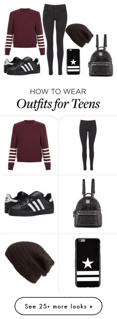 """""""Bella+ style"""" by luka1207 on Polyvore featuring New Look, Maison Scotch, adidas Originals, Givenchy, MCM and King & Fifth Supply Co."""