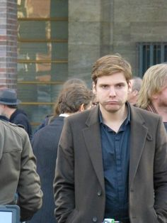Daniel Bruhl on the set of A Most Wanted Man in Hamburg  -   I find it ironic that the titles of his next two movies are THE FACE OF AN ANGEL and A MOST WANTED MAN.   Perfect.