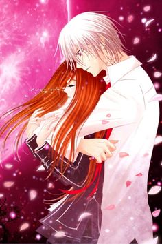 Vampire Knight- Yuuki/Yuki Cross/Kuran x Zero Kiryu Cute Little Girl Names, Anime Manga, Anime Art, Hot Anime, Yuki And Kaname, Yuki And Zero, Vampire Knight Zero, Zero Kiryu, Types Of Drawing