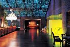 Ian Schrager hotel called The Hudson. NYC Designed by Phillipe Starck