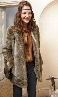 club monaco faux fur coat - i want this