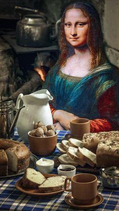 Oil Painting Pictures, Pictures To Paint, Bd Pop Art, Mona Friends, La Madone, Mona Lisa Parody, Mona Lisa Smile, Greek Mythology Art, Instagram Story Filters