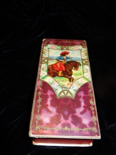 Rare Victorian Paper Candy Box with Horse & by CowgirlCaravan