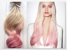 dusty rose ombre hair on blonde - Google Search