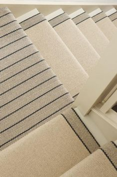 Carpet Cleaning Tips. Discover These Carpet Cleaning Tips And Secrets. You can utilize all the carpet cleaning tips in the world, and guess exactly what? You still most likely can't get your carpet as clean on your own as a pr Basement Flooring, Carpet Flooring, Rugs On Carpet, Stair Carpet, Hall Carpet, Carpet Decor, Striped Carpet Stairs, Basement Steps, Striped Carpets
