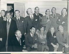 Fund raiser for Franklin  D. Roosevelt's National Foundation For Infantile paralysis. Included in the photo are Jeanette MacDonald, Nelson Eddy, Al Jolson, Tony Martin, Alice Faye.