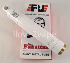 White Plume Veil Style RDA with White Fuhattan 18650 Magnetic Mechanical Mod | eBay